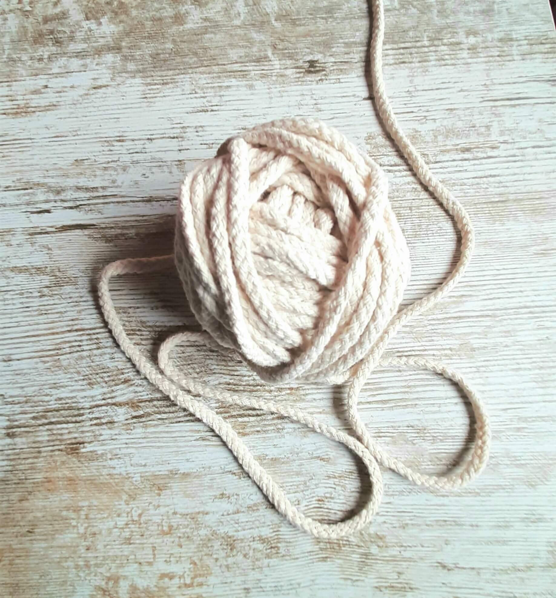 cuerda trenzada macramé